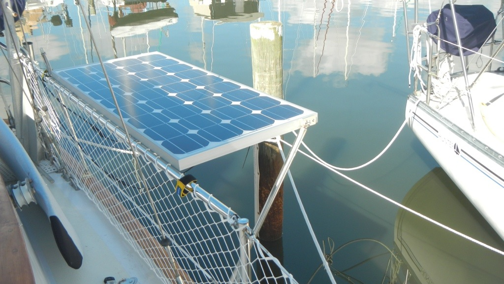 Solar Panels On Stern Rail Wright Away Sails Away